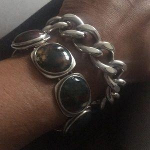 Vintage bent k bracelet